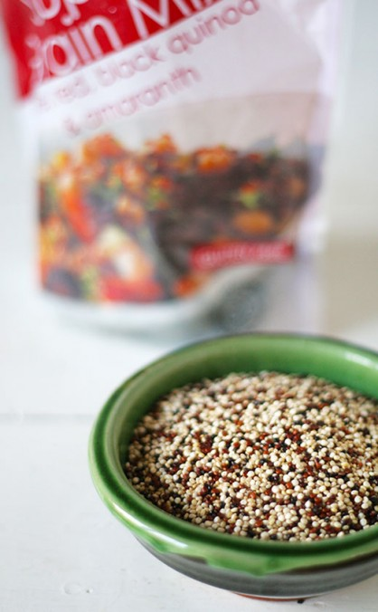 Series 1: Heirloom grains - mixed quinoa and sprout salad with haloumi recipe
