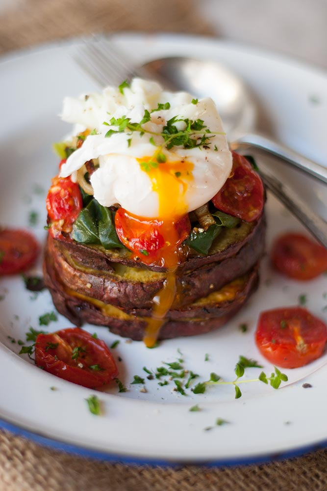 Egg and Sweet Potato Stack