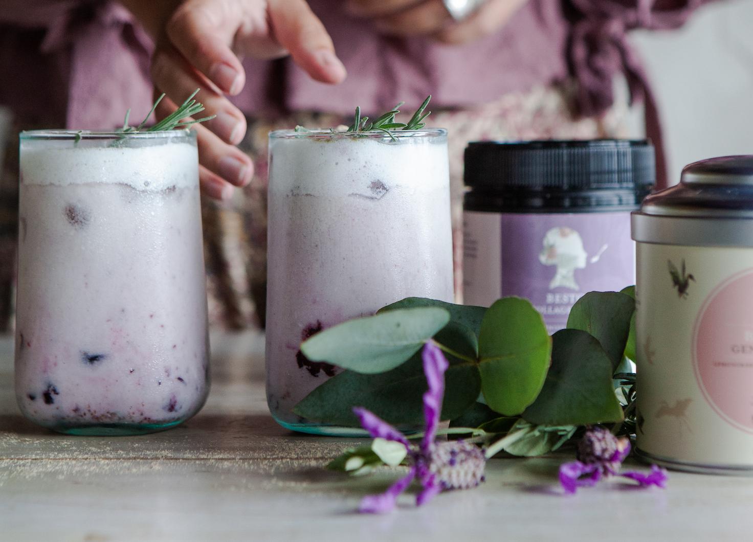 Recipe: Blueberry Generositea Lassi with a Collagen Boost